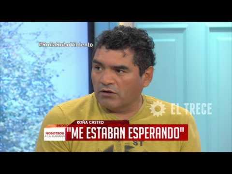 """El """"Roña"""" Castro habló sobre el violento robo que sufrió"""