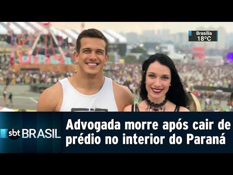 Advogada morre após cair de prédio no interior do Paraná   SBT Brasil (23/07/18)