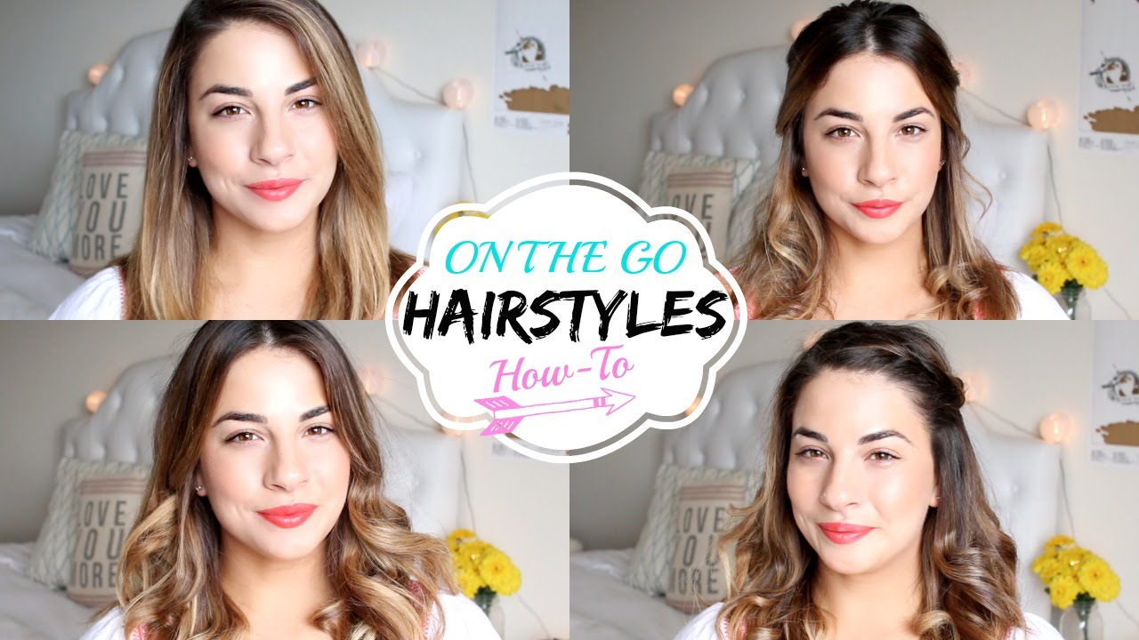 Easy Hairstyles On The Go On The Go Hairstyles Quick And Easy Youtube