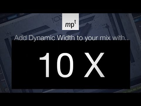 Adding Dynamic Width To Your Mix with the 10X plugin