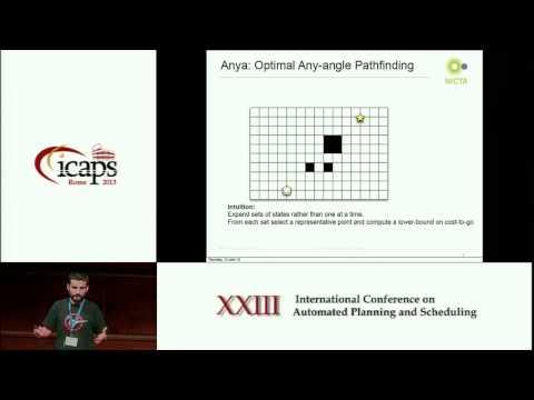 ICAPS 2013: Daniel Damir Harabor - An Optimal Any Angle Pathfinding Algorithm