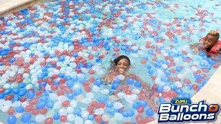 I Filled My Swimming Pool with 10,000 Water Balloons!