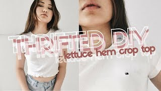 THRIFT FLIP ✂ Lettuce Hem Crop Top