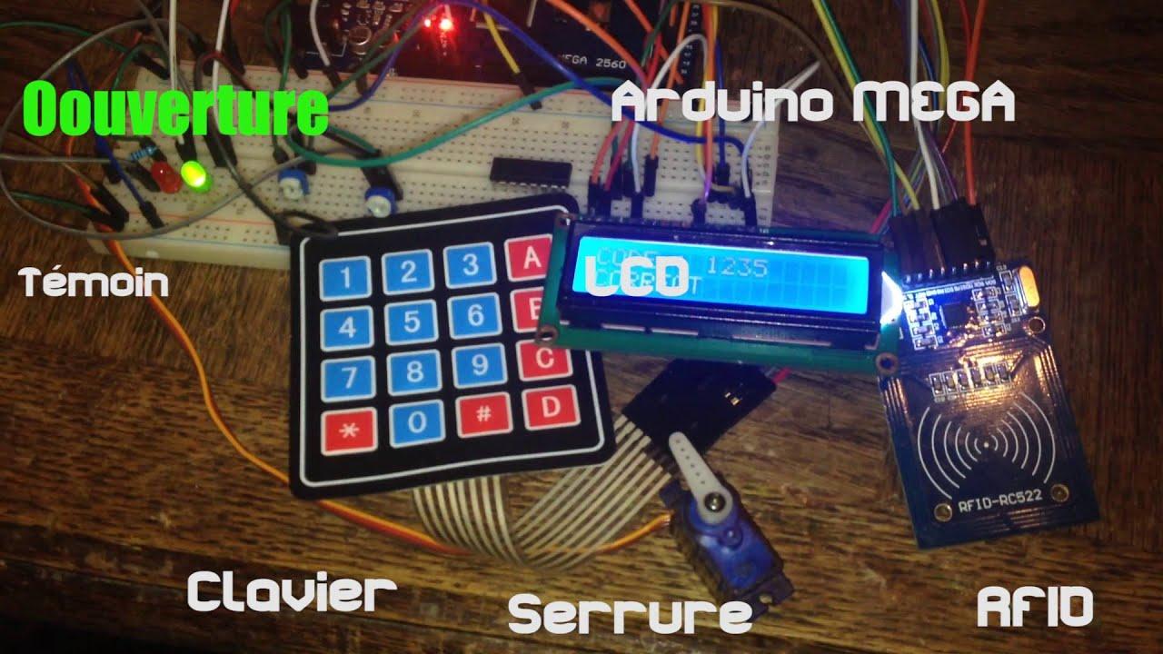 Arduino Rfid Keypad Lock Youtube