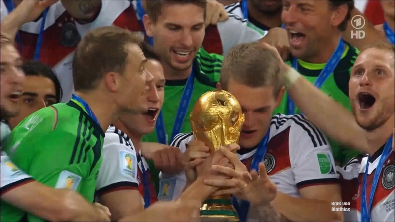 Fussball Wm 2014 Pokalubergabe Nach Wm Finale Deutschland Argentinien 13 07 2014