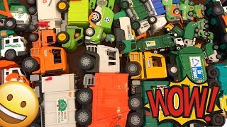 Huge Garbage Truck / Recycle Truck Kids Toy Collection!