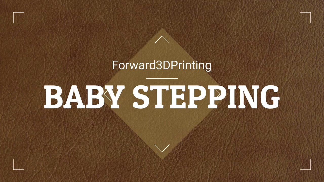 Baby Stepping: getting your first layer perfect every time by forward 3d  printing