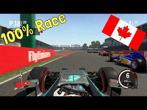 F1 2015 - 100% Race at Circuit Gilles Villeneuve, Montreal, Canada in Hamilton's Mercedes