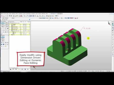 Dynamic Solid Modeling with KeyCreator Direct CAD, Part 1