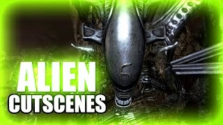 ALIEN All Cutscenes - Aliens vs Predator AVP 2010 PC XBox360 Playstation 3 PS3