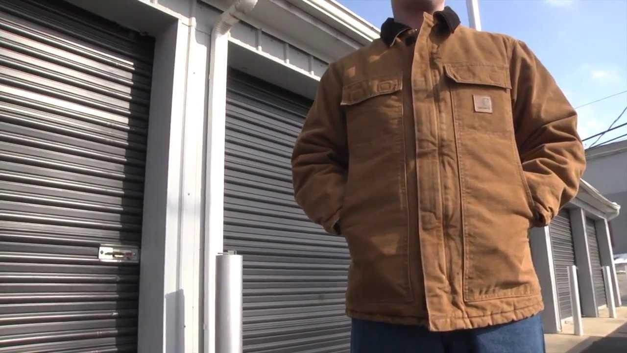 a46df29f4 Carhartt Coats: Men's C26 MOS Moss Green Sandstone Arctic Quilt Lined Coat