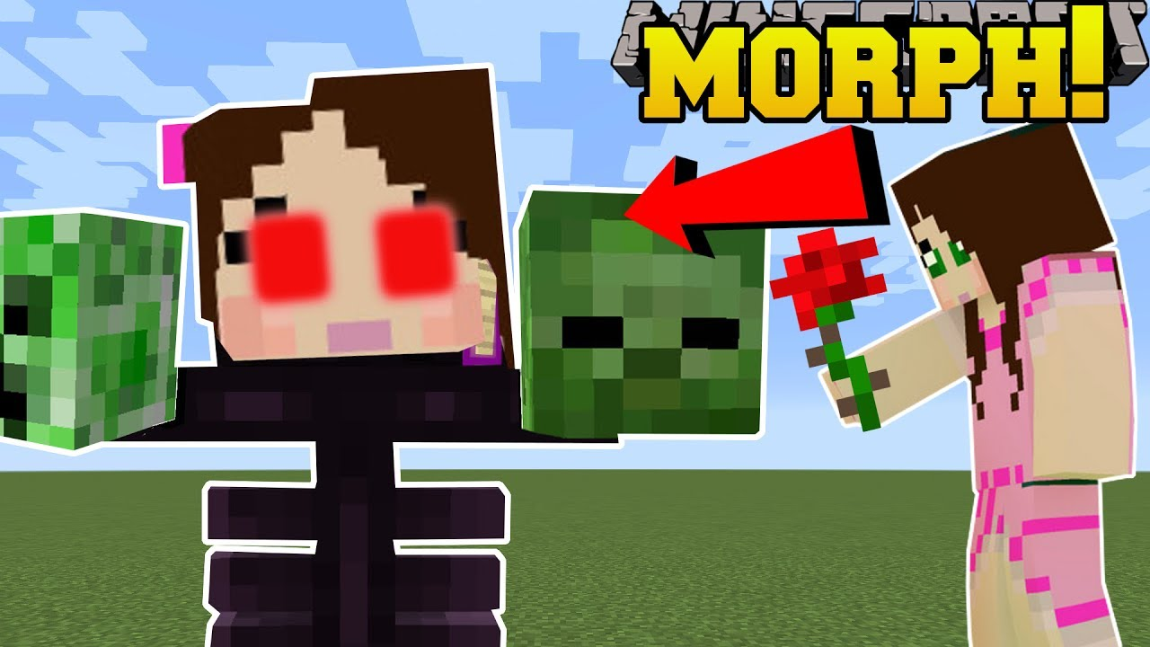 Minecraft: MORPH INTO MOBS (BE MOBS GAIN ABILITIES ) Mod