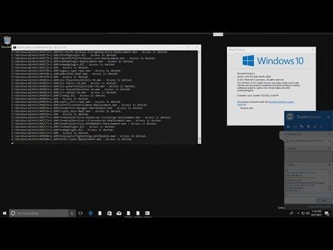 Destroying Windows 10 ('rd C:\ /s /q')