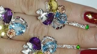 Серебряные украшения с натуральными камнями в продаже????????