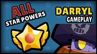 DARRYL CAN FLY! All Special Abilities Gameplay | Brawl Stars | Sneak Peek