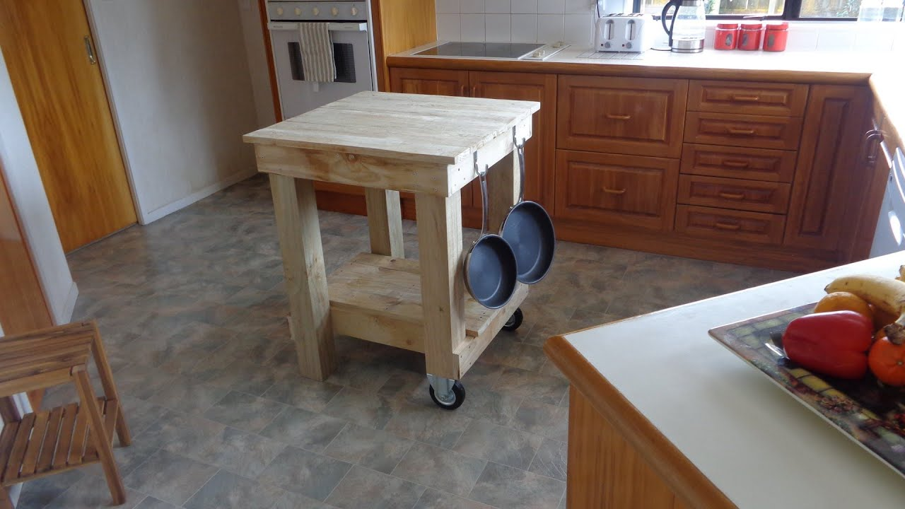 Kitchen Island Cart Diy how to build a kitchen island bench - youtube