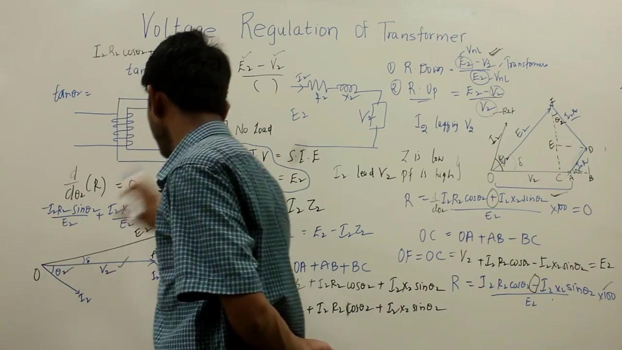 Voltage Regulation Of Transformer Youtube Jefferson Low Wiring Diagram Single