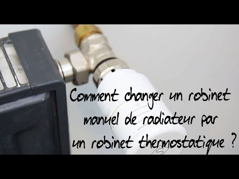 comment changer un robinet manuel de radiateur par un robinet thermostatique youtube. Black Bedroom Furniture Sets. Home Design Ideas