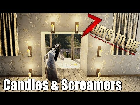 7 Days to Die - Candles Heat Map - Do They Spawn Screamers (Alpha 17)