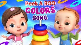 Peek A Boo - Colors Song   Videogyan 3d Rhymes   Baby Ronnie Rhymes   Nursery Rhymes & Kids Songs