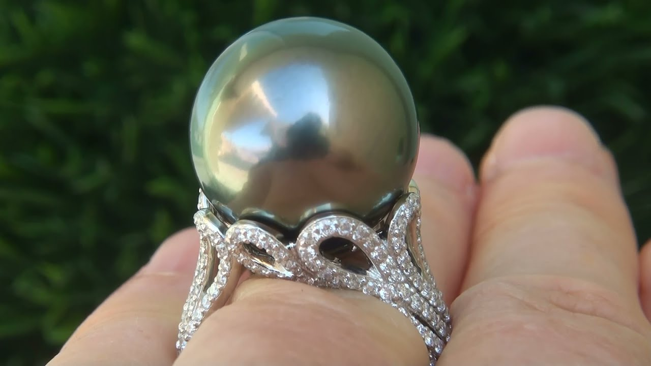 gold pearl white aminoff tahitian ring black engagement amp image rings diamond matt pearls