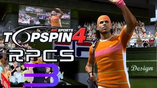 RPCS3 Top Spin 4 Full Speed para PC | Gameplay Español  Nadal VS Federer