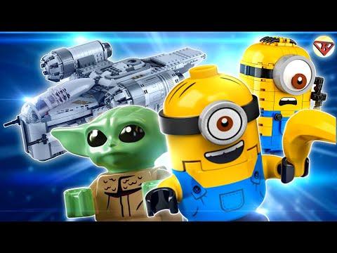 Лего минифигурки 20 серия, Миньоны, Малыш Йода Мандалорец - LEGO Новинки из Нью Йорка