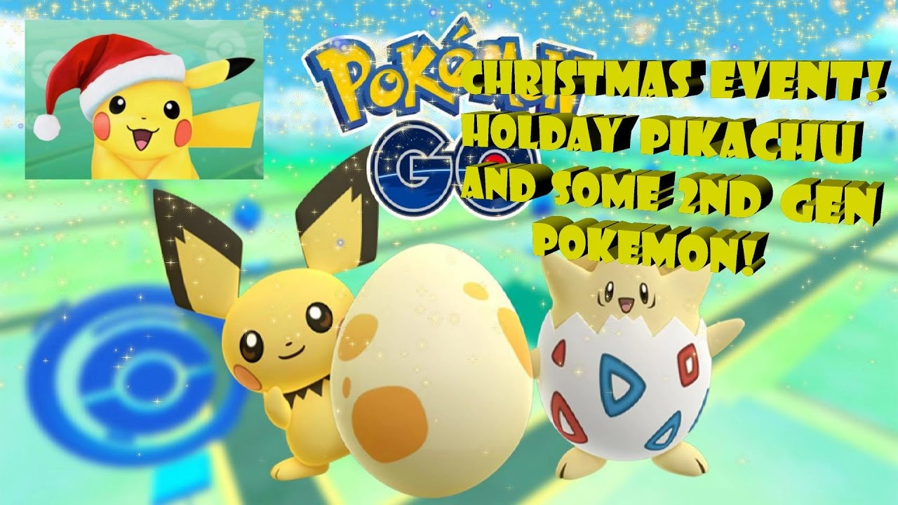 Pokemon Go! Christmas Event, Festive Pikachu, and some 2nd Gen ...
