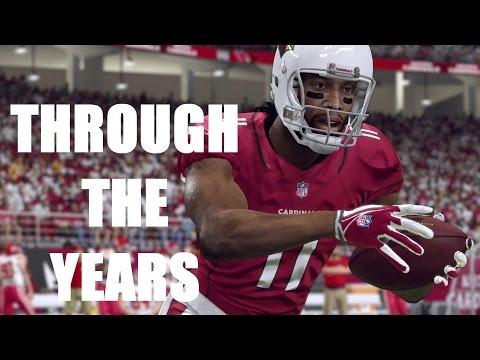 LARRY FITZGERALD THROUGH THE YEARS - NCAA FOOTBALL 04 - MADDEN 16