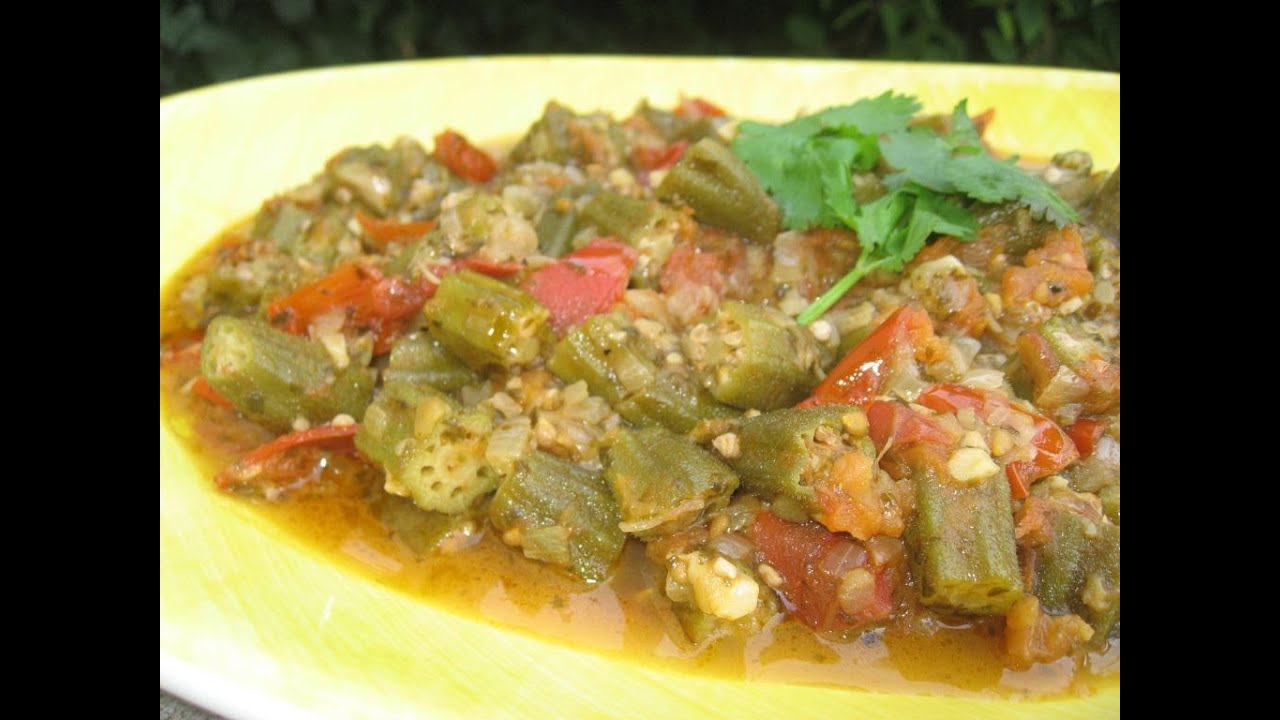 Cuisine libanaise gombo a l 39 huile d 39 olive youtube for Cuisine libanaise