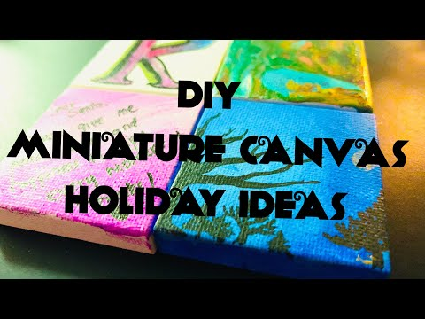 Mini Canvas Painting Ideas | Easy DIY Painting Ideas | Arts, Crafts & Timelapse
