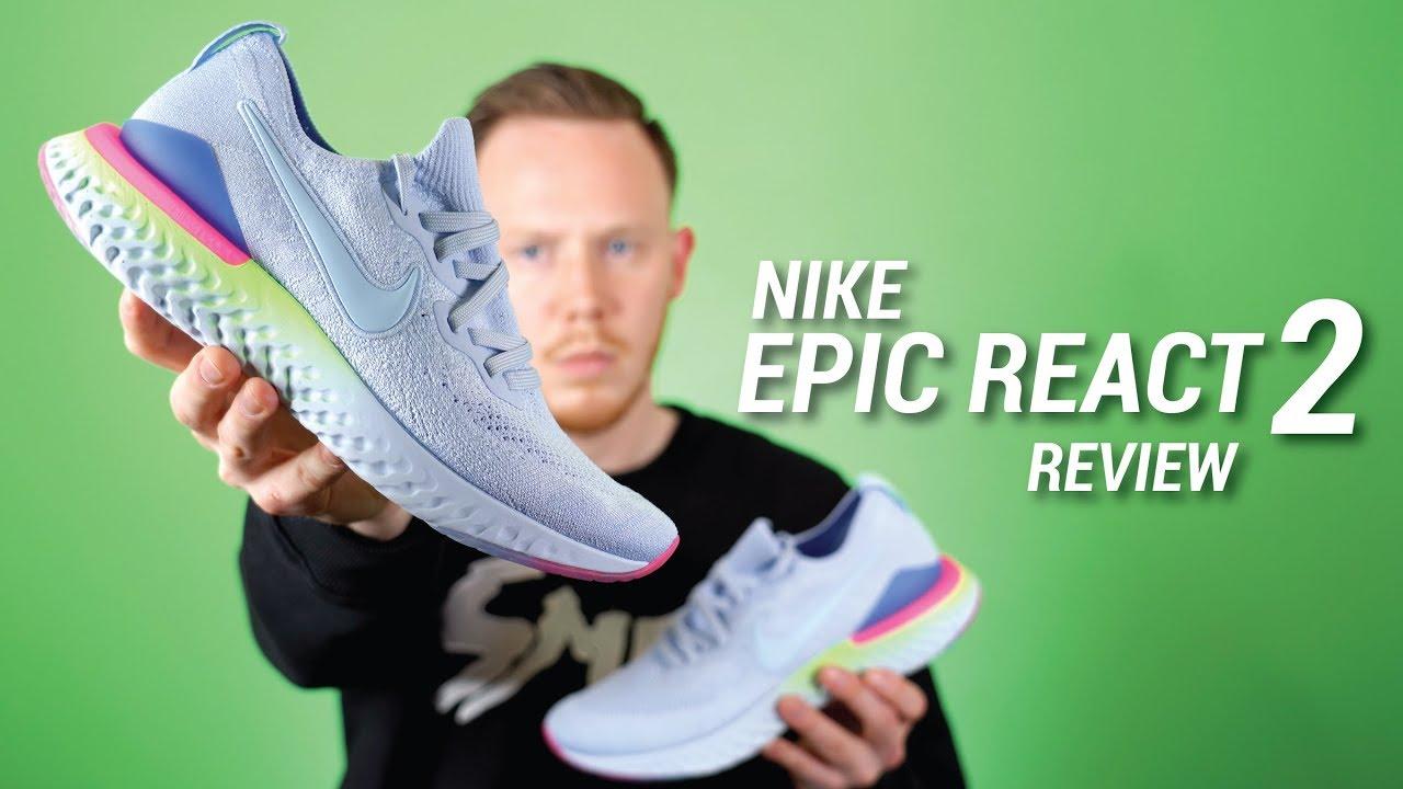 Nike Epic React 2 Flyknit Review   Epic React Comparison - YouTube a77deac7b