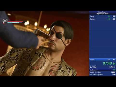 Yakuza Kiwami 2 Majima Saga Any% Normal (PC) 8:57.940 (Time with Loads) |