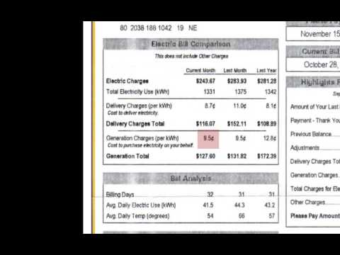 Understanding Electricity in Your Home and Your Electricity Bill
