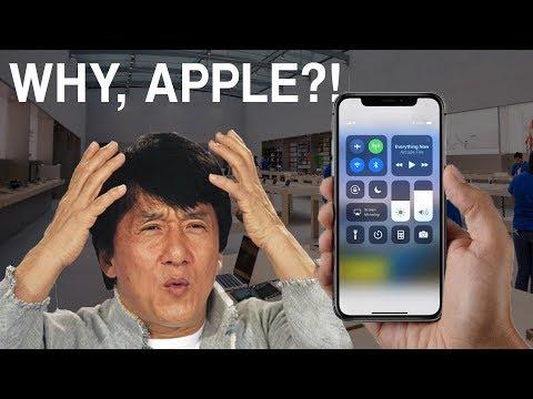 The new Apple iPhone X UI design is DUMB!