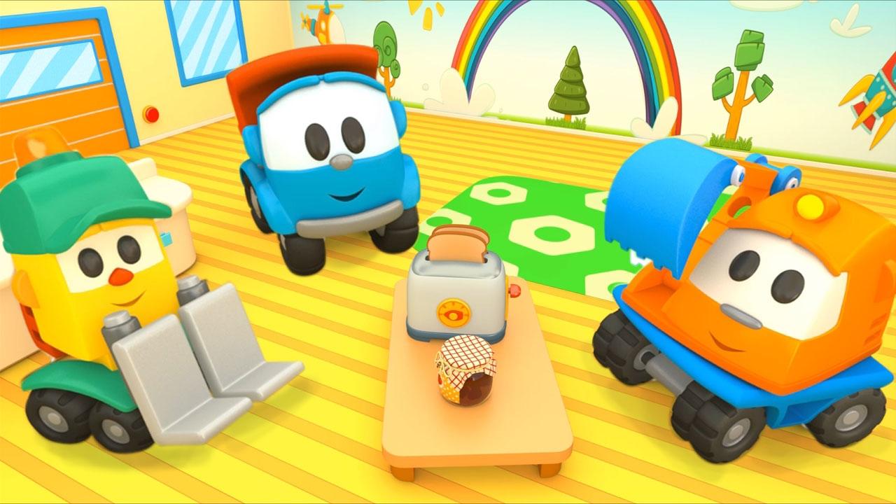 Cartoni animati per bambini camioncino leo junior il