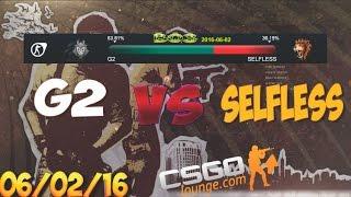 CSGO Lounge Betting Predictions - G2 vs Selfless / ZefirTV Predicts