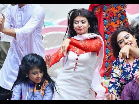 NSU Official Flash Mob Pohela Boishakh 1425|| শুভ নববর্ষ ১৪২৫