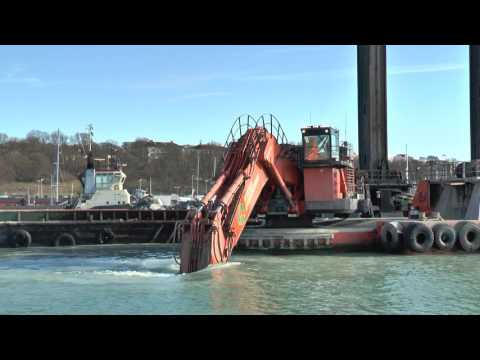 Wasa Dredging in the harbor of Visby in March 2017