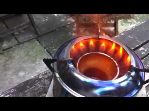Wood Gas Stove With White Box Meths Stove Youtube
