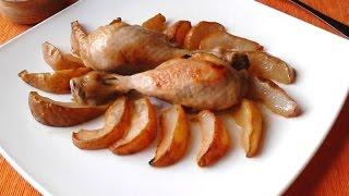 Курица с грушей в духовке