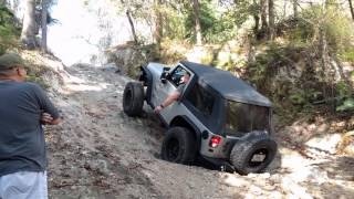 Jeep Wrangler JK Attempting Hardrock Offroad Park in Florida