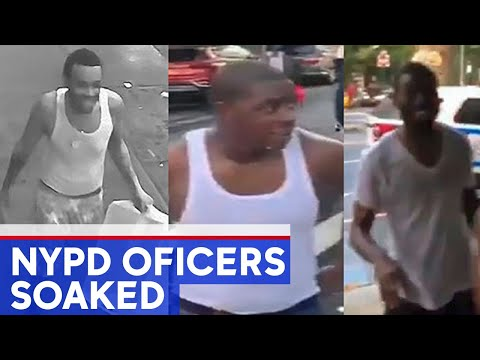 3 charged after NYPD officers doused with water in NYC