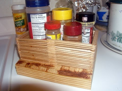 Wooden craft Popsicle Stick Spice Rack