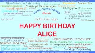 Alice   Languages Idiomas - Happy Birthday