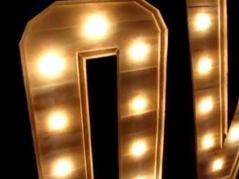 letras de madera con luz  YouTube