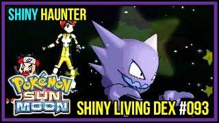 SHINY HAUNTER LIVE REACTION! Shiny Living Dex #093 | Pokemon Sun and Moon