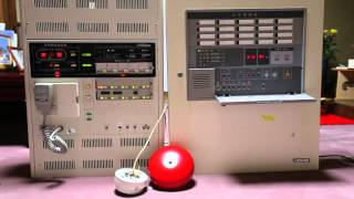 自動火災報知設備・非常放送連動時の地区音響動作