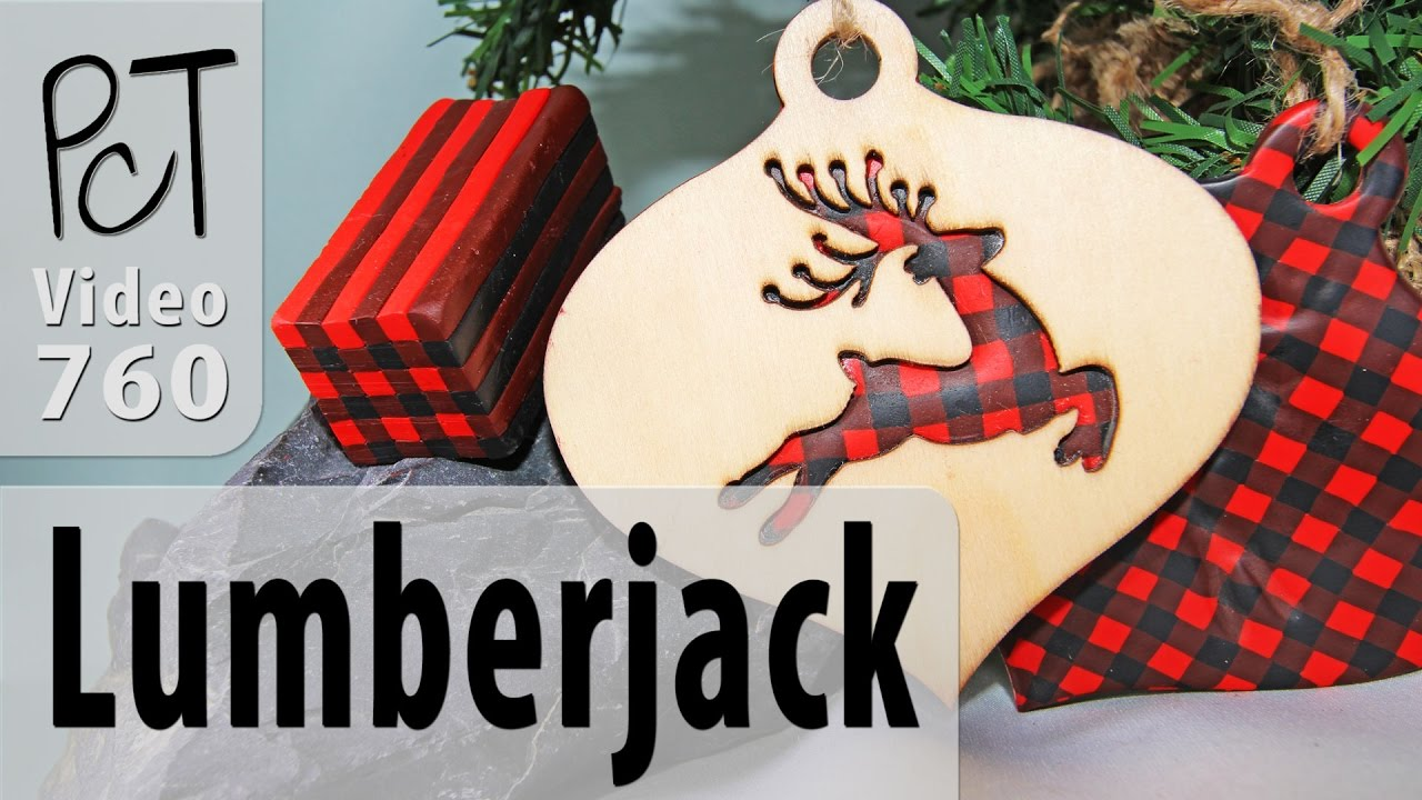 lumberjack plaid polymer clay cane rustic christmas decor - Rustic Plaid Christmas Decor