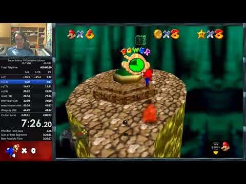 Super Mario 74 Extreme Edition 157 star speedrun in 3:54:51 (WR)